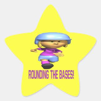 Rounding The Bases Star Sticker