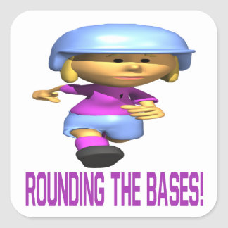 Rounding The Bases Square Sticker