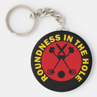Roundness In The Hole Basic Round Button Key Ring