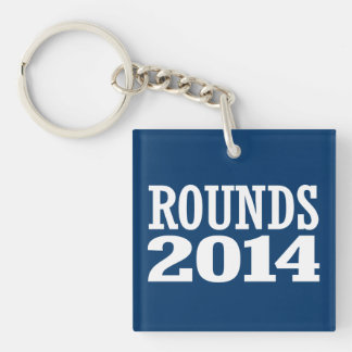 ROUNDS 2014 Double-Sided SQUARE ACRYLIC KEY RING