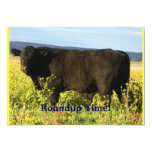 Roundup Time!  Cattle Drive - Western Style Party 13 Cm X 18 Cm Invitation Card