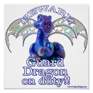 Rourke : Guard Dragon On Duty Poster