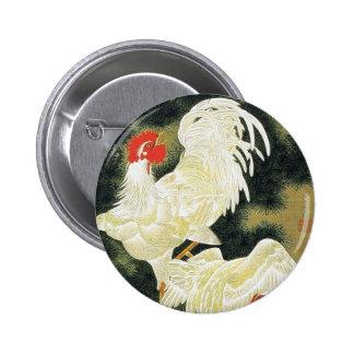 Rousho Hakkeizu by Ito Jakuchu 6 Cm Round Badge