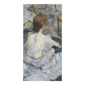 Rousse La Toilette by Henri de Toulouse-Lautrec Custom Photo Card