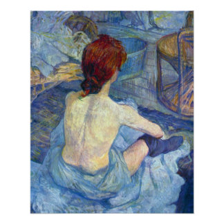 Rousse the Toilet by Toulouse-Lautrec Poster