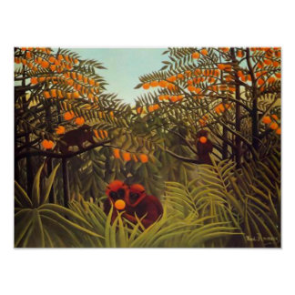 Rousseau Apes in the Orange Grove Poster