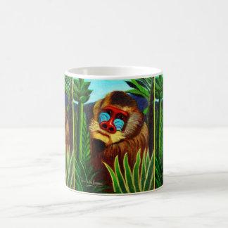 Rousseau - Mandril in the Jungle (Adaptation) Basic White Mug