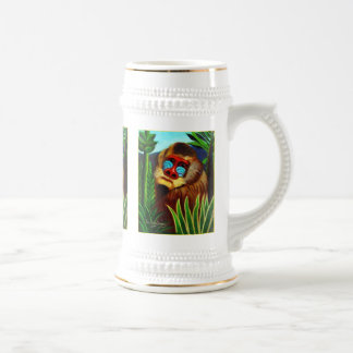 Rousseau - Mandril in the Jungle (Adaptation) Beer Steins