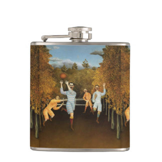 Rousseau's Football Players art flask