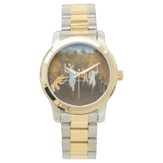 Rousseau's Football Players art watches