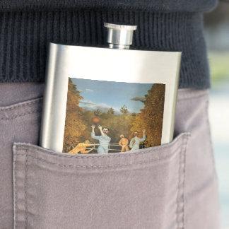 Rousseau's Football Players custom flask