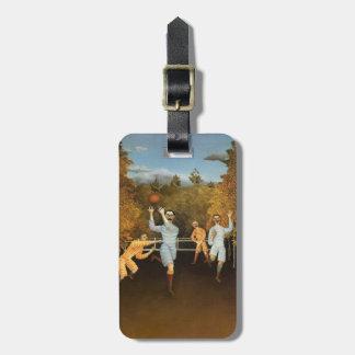 Rousseau's Football Players custom luggage tag