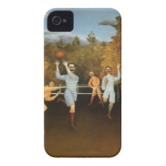 Rousseau's Football Players iPhone case