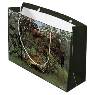Rousseau's Hungry Lion art gift bag