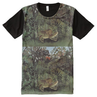 Rousseau's Hungry Lion art t-shirt All-Over Print T-Shirt