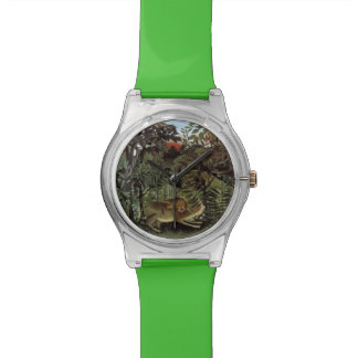 Rousseau's Hungry Lion art watches
