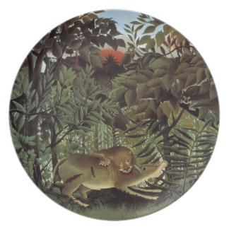 Rousseau's Hungry Lion plate