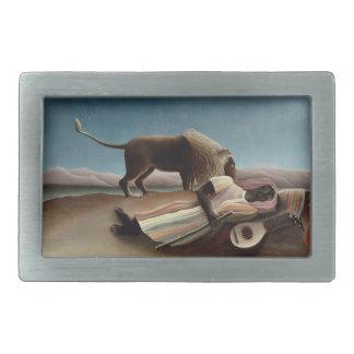 Rousseau's Sleeping Gypsy belt buckle