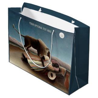 Rousseau's Sleeping Gypsy custom gift bag