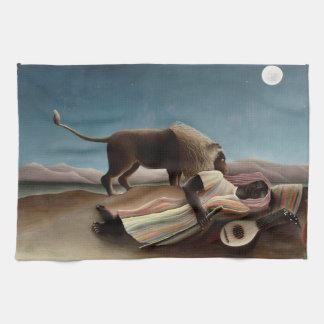 Rousseau's Sleeping Gypsy hand towel