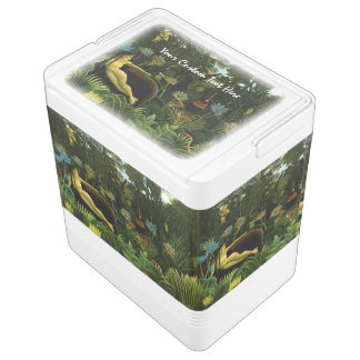 "Rousseau's ""The Dream"" custom cooler Igloo Cooler"
