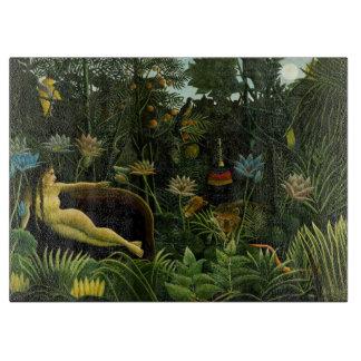 """Rousseau's """"The Dream"""" cutting board"""