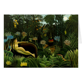 "Rousseau's ""The Dream"" greeting card"