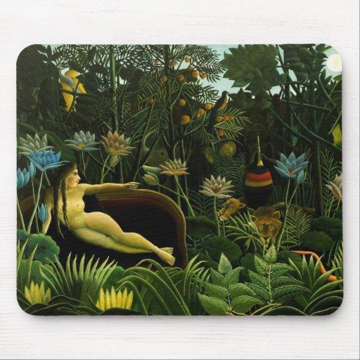 """Rousseau's """"The Dream"""" mousepad"""