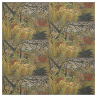 Rousseau's Tiger art fabric