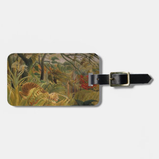 Rousseau's Tiger custom luggage tag