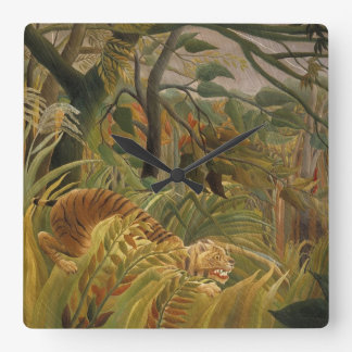 Rousseau's Tiger wall clock