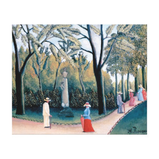 Rousseau - The Luxembourg Gardens Gallery Wrap Canvas