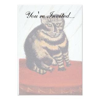 Rousseau - The Tiger Cat 13 Cm X 18 Cm Invitation Card