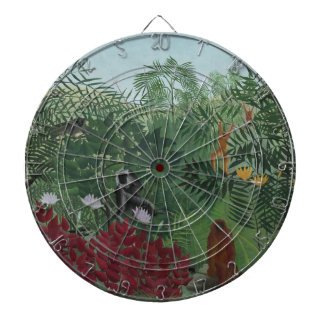Rousseau Tropical Forest with Monkeys Dartboard