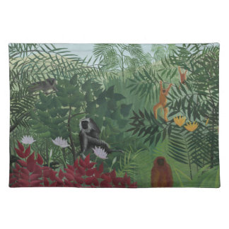 Rousseau Tropical Forest with Monkeys Placemat