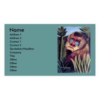 """Rousseau's """"Mandrill in the Jungle"""" (circa 1909) Pack Of Standard Business Cards"""