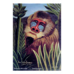 "Rousseau's ""Mandrill in the Jungle"" (circa 1909) Poster"