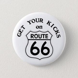 route66 6 cm round badge