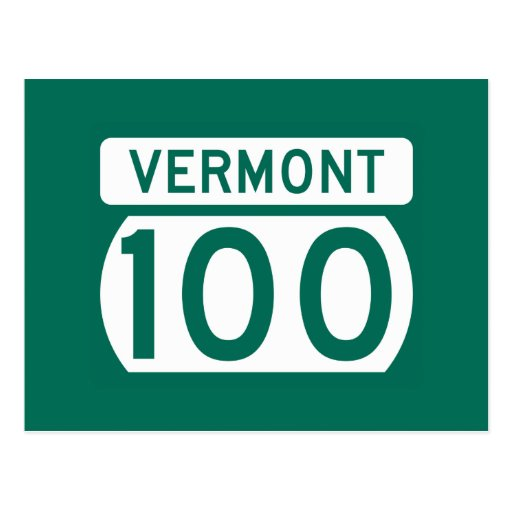 Route 100, Vermont, USA Postcards