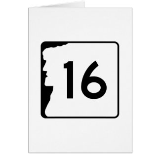 Route 16, New Hampshire, USA Greeting Card