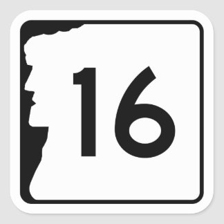 Route 16, New Hampshire, USA Square Sticker