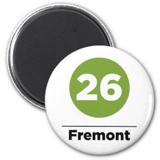 Route 26 - Fremont 6 Cm Round Magnet