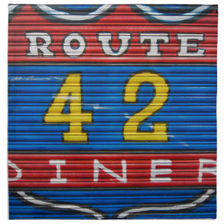 Route 42 Diner graffiti, Shoreditch London Napkin