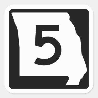 Route 5, Missouri, USA Square Stickers