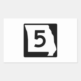 Route 5, Missouri, USA Rectangular Sticker