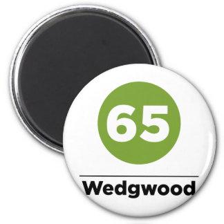 Route 65 6 cm round magnet
