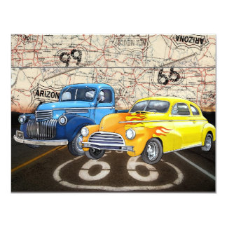 Route 66 - #2 - SRF 11 Cm X 14 Cm Invitation Card