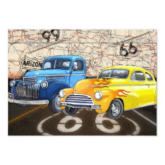 Route 66 - #2 - SRF 13 Cm X 18 Cm Invitation Card