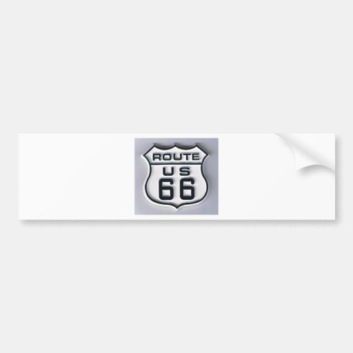 Route 66 3-D looking Bumper Stickers
