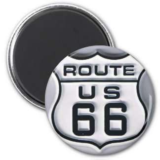 Route 66 3-D looking Magnet